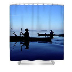 On The Deep Blue Sea Shower Curtain