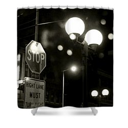 On The Road 2 Shower Curtain by Adam Vance