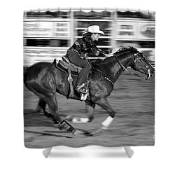 On The Run Shower Curtain by Vicki Pelham