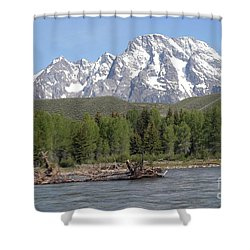 On The Snake River Shower Curtain by Living Color Photography Lorraine Lynch