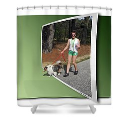On The Trail Shower Curtain by Brian Wallace