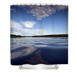 On The Water Shower Curtain by Gary Eason