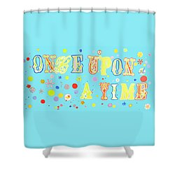 Shower Curtain featuring the painting Once Upon A Time by Beth Saffer