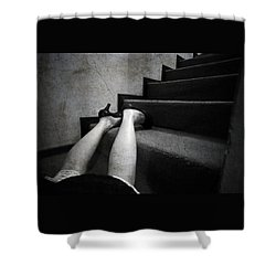 Oops... Shower Curtain by Laura Melis