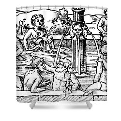 Open-air Bath Balneology 1571 Shower Curtain by Science Source