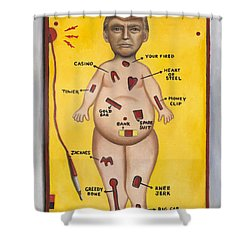 Operation Trump Shower Curtain by Leah Saulnier The Painting Maniac