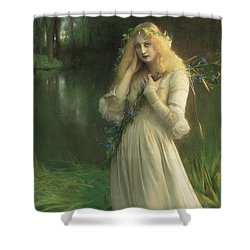 Ophelia Shower Curtain by Pascal Adolphe Jean Dagnan Bouveret