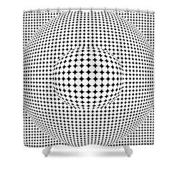 Optical Illusion Ball In Ball Shower Curtain