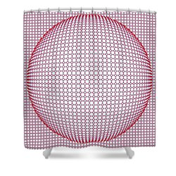 Optical Illusion Blue And Red Shower Curtain