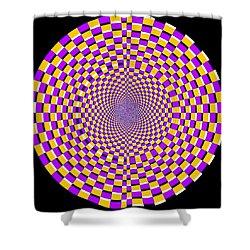 Optical Illusion Moving Cobweb Shower Curtain