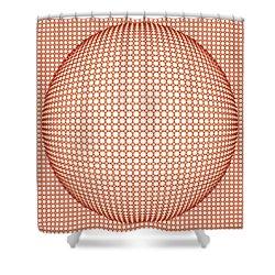 Optical Illusion Orange Ball Shower Curtain by Sumit Mehndiratta