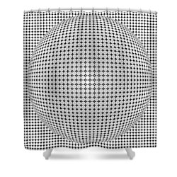 Optical Illusion Plastic Ball Shower Curtain