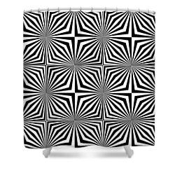 Optical Illusion Spots Or Stares Shower Curtain