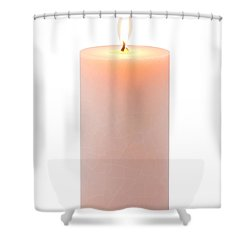 Orange Candle Shower Curtain by Atiketta Sangasaeng