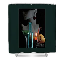 Shower Curtain featuring the photograph Orange Candle by Elf Evans