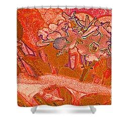 Orange Joy Shower Curtain by First Star Art