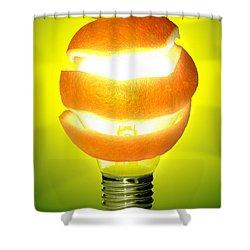 Orange Lamp Shower Curtain by Carlos Caetano