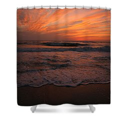 Orange To The End Shower Curtain