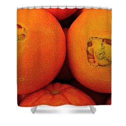 Shower Curtain featuring the photograph Oranges by Bill Owen