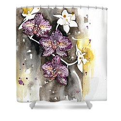 Orchid 13 Elena Yakubovich Shower Curtain by Elena Yakubovich