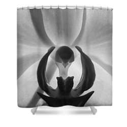 Orchid Heart Shower Curtain by Kume Bryant
