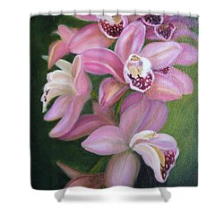 Shower Curtain featuring the painting Orchids by Marlyn Boyd