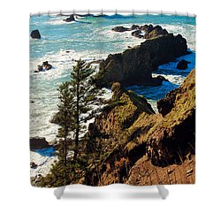 Shower Curtain featuring the photograph Oregon Coast by Athena Mckinzie