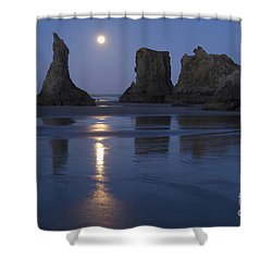 Oregon Coast Shower Curtain by John Shaw and Photo Researchers