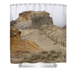 Shower Curtain featuring the photograph Oregon Sand Dunes by Athena Mckinzie