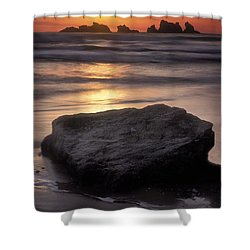 Oregon Sunset Shower Curtain by Dave Mills