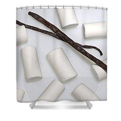 Organic Marshmallows With Vanilla Shower Curtain by Joana Kruse