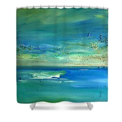 Organic Seascape Shower Curtain by Dolores  Deal