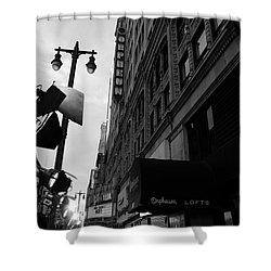 Shower Curtain featuring the photograph Orpheum Theater by Nina Prommer