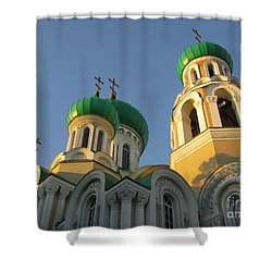 Orthodox Church Of Sts Michael And Constantine- Vilnius Lithuania Shower Curtain by Ausra Huntington nee Paulauskaite