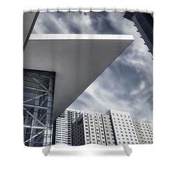 Orwellian Shower Curtain by Joan Carroll