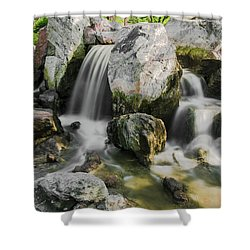 Osaka Garden Waterfall Shower Curtain