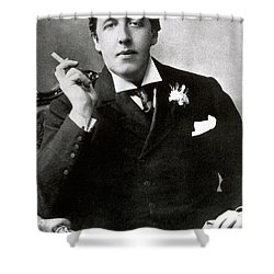 Oscar Wilde, Irish Author Shower Curtain by Photo Researchers