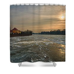 Ostrow Tumski Shower Curtain by Sebastian Musial