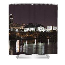Ottawa Skyline Shower Curtain by Eunice Gibb