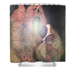 Our Love Shines Shower Curtain by Laurie Search