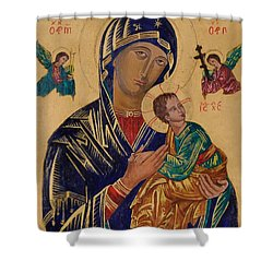 Our Mother Of Perpetual Help Shower Curtain by Camelia Apostol