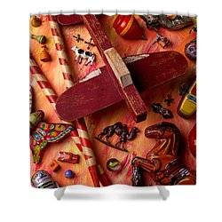 Our Old Toys Shower Curtain by Garry Gay
