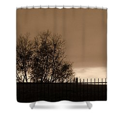 Out Of Reach Shower Curtain by Ed Smith