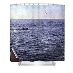 Out To Sea Shower Curtain by Madeline Ellis