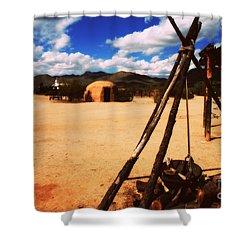 Outdoor Village Movie Set Shower Curtain by Susanne Van Hulst