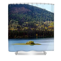 Outlook 18 Shower Curtain by Will Borden