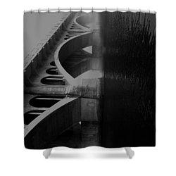 Over The Bridge Shower Curtain by Jerry Cordeiro