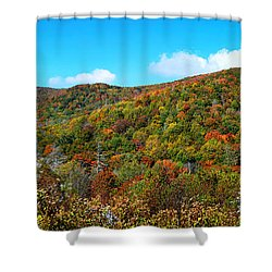 Over The Cherohala Skyway Shower Curtain by Paul Mashburn