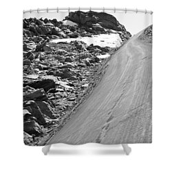 Over The Edge Shower Curtain by Colleen Coccia