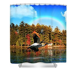Over The Rainbow Shower Curtain by Mark Ashkenazi